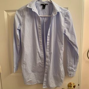 Blue collared shirt